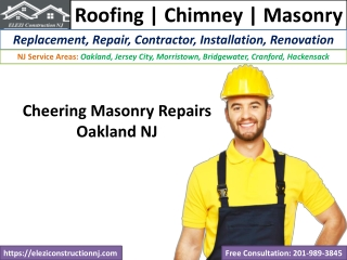 Cheering Masonry Repairs Oakland NJ