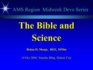 AMS Region  Midweek Devo Series