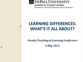 Learning Differences: What's It All About?