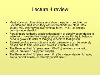 Lecture 4 review