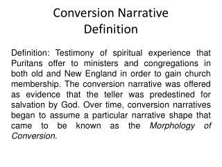 Conversion Narrative Definition