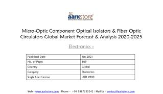 Optical Isolator and Fiber Optic Circulator Market Forecast