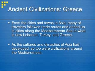 Ancient Civilizations: Greece