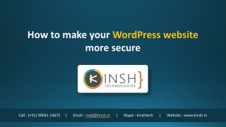 How to make your WordPress website more secure?