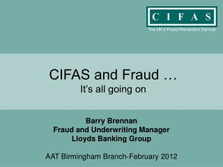 CIFAS and Fraud … It's all going on
