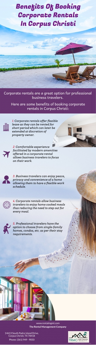 Benefits Of Booking Corporate Rentals In Corpus Christi
