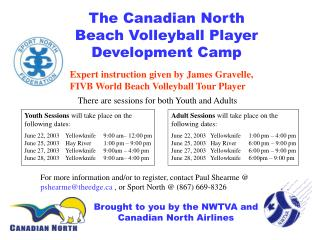 The Canadian North               Beach Volleyball Player Development Camp