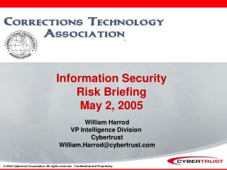 Information Security  Risk Briefing  May 2, 2005