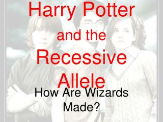Harry Potter  and the Recessive Allele