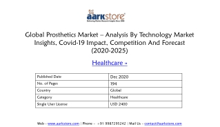 Global Prosthetics Market Research Report | Market Insights, Covid-19 Impact, Competition And Forecast (2020-2025)