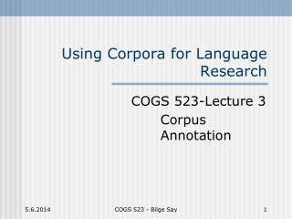 Using Corpora for Language Research