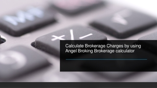 Angel Broking Brokerage Calculator