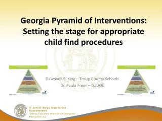Georgia Pyramid of Interventions: Setting the stage for appropriate child find procedures