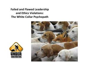 Failed and Flawed Leadership and Ethics Violations: The White Collar Psychopath