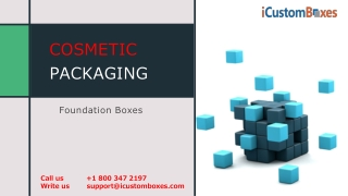 Get the Exemplary Cardboard Foundation Boxes at iCustomBoxes