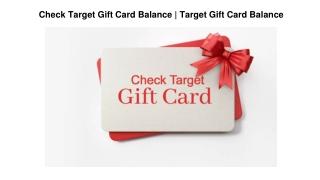 Check Target Gift Card Balance   Target Gift Card Balance