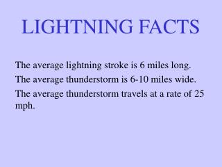 LIGHTNING FACTS