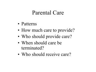 Parental Care