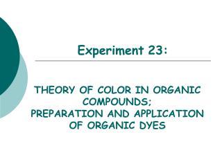Experiment 23: