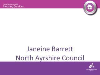 Janeine Barrett North Ayrshire Council