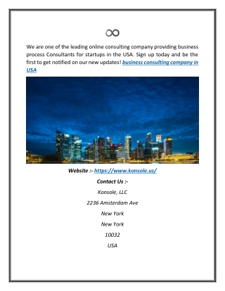 Business Consulting Company in the USA