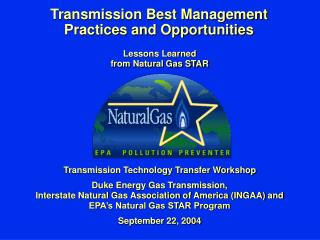 Transmission Best Management Practices and Opportunities