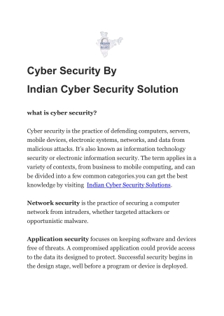 cyber security by indian cyber security