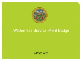 Wilderness Survival Merit Badge