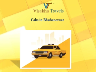 Book Cheap Taxi & Cabs in Bhubaneswar on Visakhatravels.com