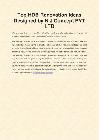 Top Renovation Design : NJ Concept Pte Ltd
