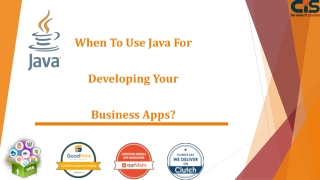 When To Use Java For Developing Your Business Apps?
