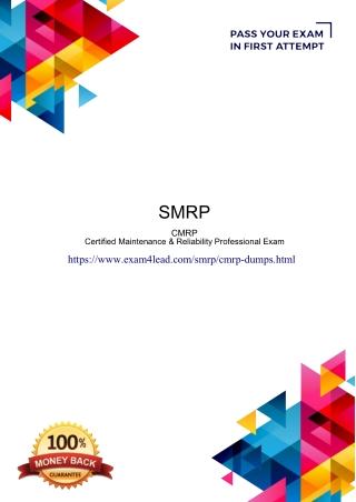 Smrp Cmrp Dumps PDF-Online Smrp Cmrp Test Engine Exam4Lead