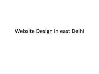 website design in east Delhi