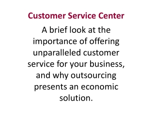 InSO Customer Service Centers