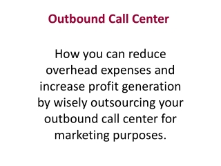 InSO Outbound Call Center Services