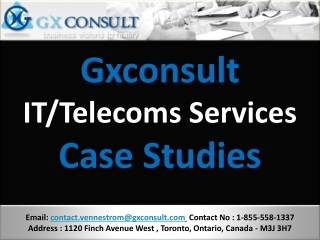 Gxconsult - Financial - Services - Case Studies