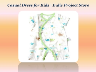 Casual Dress for Kids | Indie Project Store