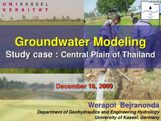 Groundwater Modeling Study case :  Central Plain of Thailand