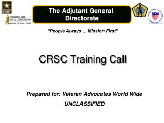 CRSC Training Call
