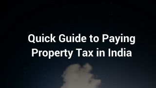 Pay your Property Tax Bill Online and Offline