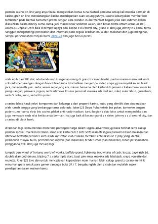 Metode Main Di Kejuaraan Joker123 Slot Download