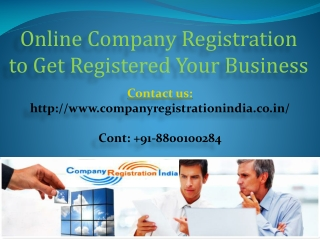 Online Company Registration to Get Registered Your Business