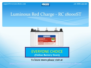 Buy Luminous Red Charge - RC 18000ST (150Ah)