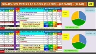 DIET MEALS X 4,5 BLOCKS