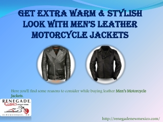 Get Extra Warm &  Stylish Look with Mens Leather Motorcycle Jackets
