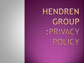 hendren group privacy policy