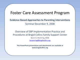 Foster Care Assessment Program
