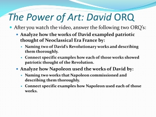 The Power of Art: David ORQ
