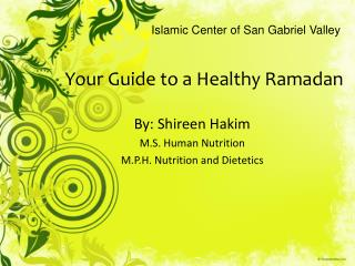 Your Guide to a Healthy Ramadan