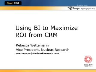 Using BI to Maximize ROI from CRM